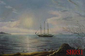 Seascape, Handmade oil painting on Canvas:seascapeSH031