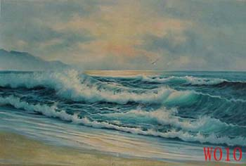 Non-Famous Artist or Original painting on canvas: SeascapeW010