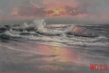 Non-Famous Artist or Original painting on canvas: SeascapeW013