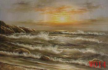 Non-Famous Artist or Original painting on canvas: SeascapeW014