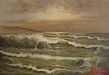 Non-Famous Artist or Original painting on canvas: SeascapeW015