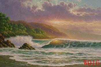 Non-Famous Artist or Original painting on canvas: SeascapeW016