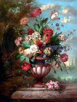 Classical flower, Handmade oil painting on Canvas.