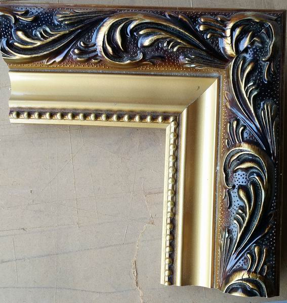 Framed oil painting reproductions, Golden black frame style19