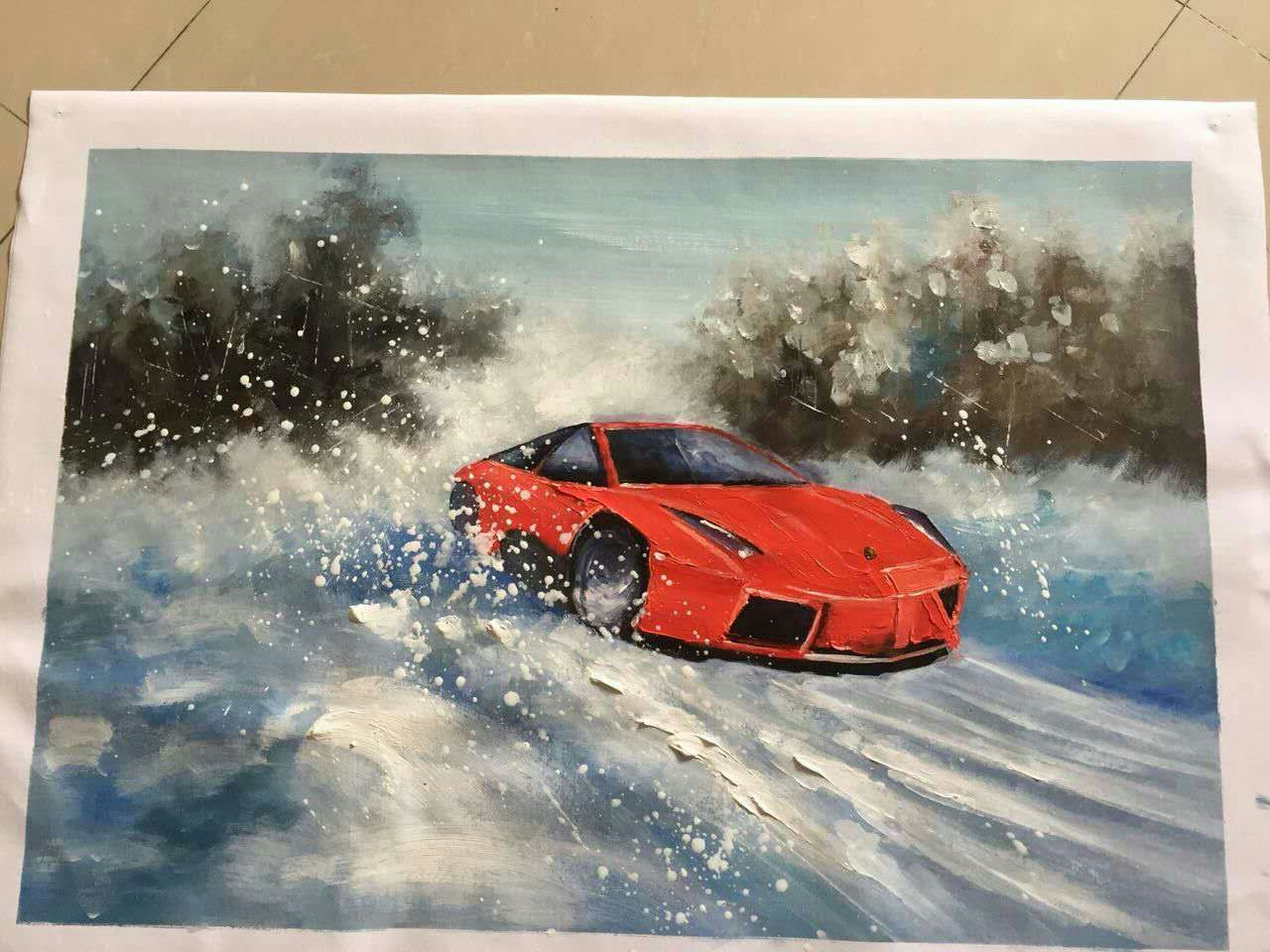 Knife painting on canvas autocross