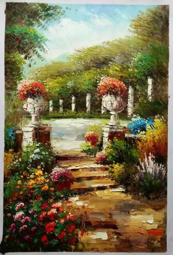 Knife painting on canvas italian landscape oil paintings