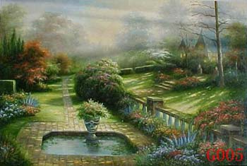 Landscape, Handmade oil painting on Canvas:005