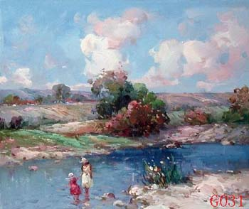 Landscape, Handmade oil painting on Canvas:G0031