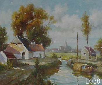 Landscape, Handmade oil painting on Canvas:L0038