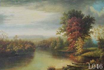 Landscape, Handmade oil painting on Canvas: L0046