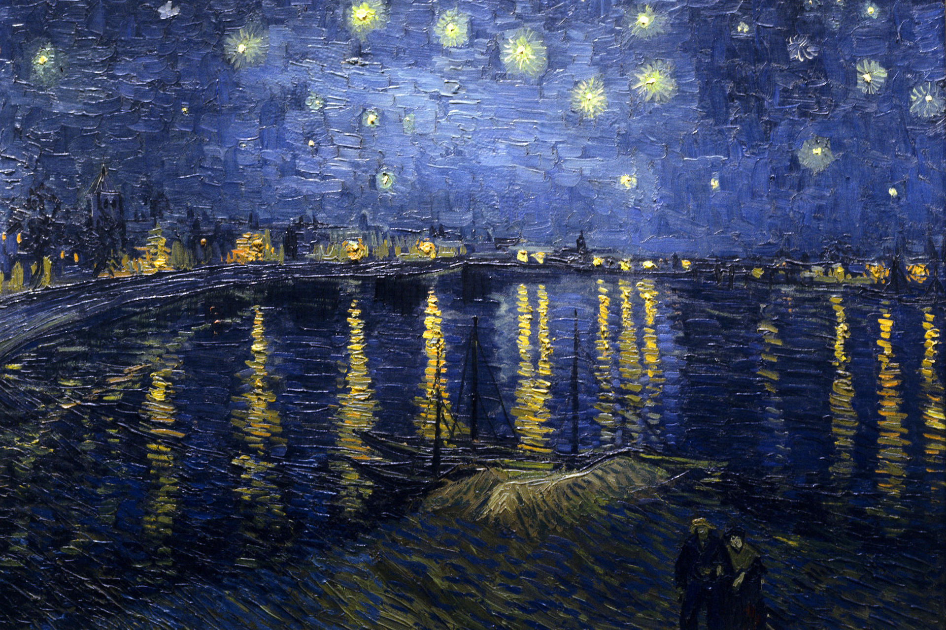 Van Gogh paintings artwork Starry Night Over The Rhone - Click Image to Close
