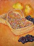 Claude Oscar Monet paintings Basket Of Graphes Quinces And Pears