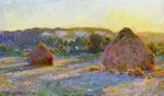 Claude Monet art Grainstacks at the End of Summer Evening Effect