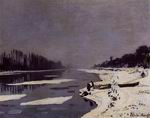 Claude Monet art Ice Floes on the Saine at Bougival 1867-1868