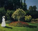 Claude Monet art Jeanne-Marguerite Lecadre in the Garden 1866