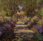 Claude Monet art Pathway in Monets Garden at Giverny 1901-1902