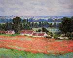 Reproduction of Claude Monet artwork Poppy Field at Giverny 1885