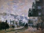 Claude Monet Saint-Lazare Station the Western Region Goods S