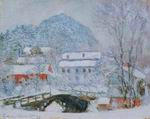 Reproduction of Sandviken Village in the Snow 1895