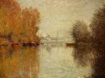 Claude Oscar Monet paintings Autumn On The Seine At Argenteuil