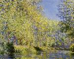 Claude Oscar Monet paintings artwork Bend in the River Epte 1888