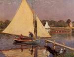 Reproduction of Claude Oscar Monet Boaters at Argenteuil 1874