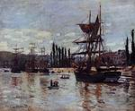 Reproduction of Claude Oscar Monet paintings art Boats At Rouen