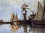 Claude Oscar Monet paintings art Boats In The Port Of Honfleur