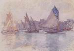 Claude Oscar Monet paintings of Boats In The Port Of Le Havre