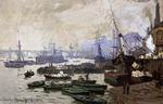 Claude Oscar Monet paintings Boats in the Port of London 1871