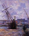 Claude Oscar Monet paintings Boats Lying At Low Tide At Facamp