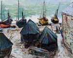 Claude Oscar Monet paintings art Boats On The Beach At Etretat2