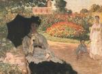 Claude Oscar Monet Camille In The Garden With Jean And His Nanny
