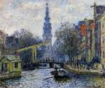 Reproduction of Claude Oscar Monet paintings Canal In Amsterdam