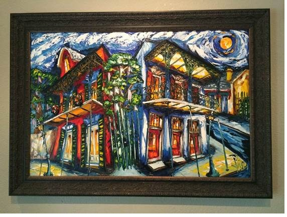 New Orleans oil paintings for sale, Without frame