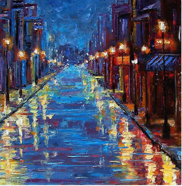 New Orleans oil paintings for sale, New orlean Bourbon street