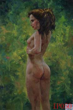 Non-Famous Artist or Original oil painting on canvas:PeopleIP50