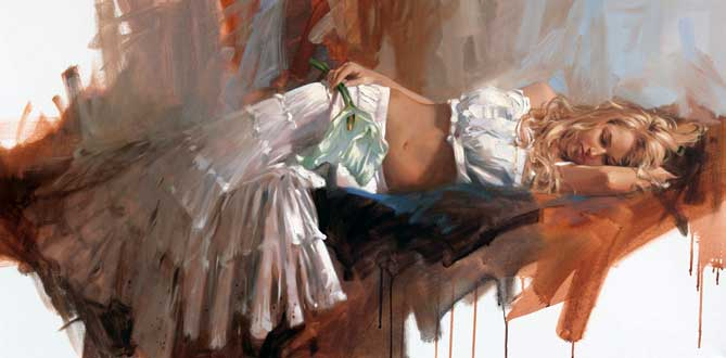 Richard johnson paintings Lily Reproductions on canvas