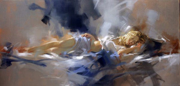 Richard johnson paintings Midnight Blue Reproductions on canvas