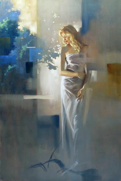 Reproductions Richard johnson paintings Twilight Garden