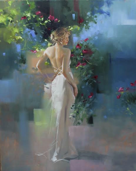 Reproductions Richard johnson paintings Twilight in the Garden
