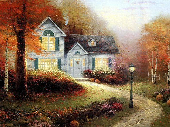 Thomas Kinkade paintings. No.1, Reproductions of paintings