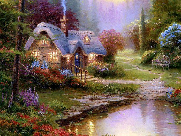 Thomas Kinkade paintings, no.2 Reproductions of paintings