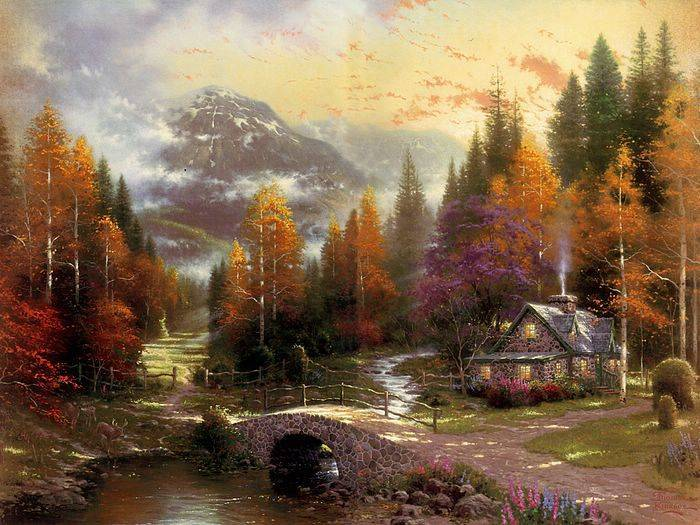 Thomas Kinkade paintings, no.3 Reproductions of paintings