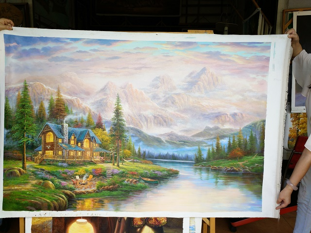 Reproductions of Thomas Kinkade paintings 60x40 inch