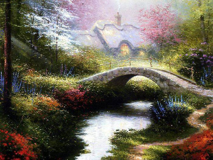 Thomas Kinkade paintings, NO.8 reproduction canvas paintings
