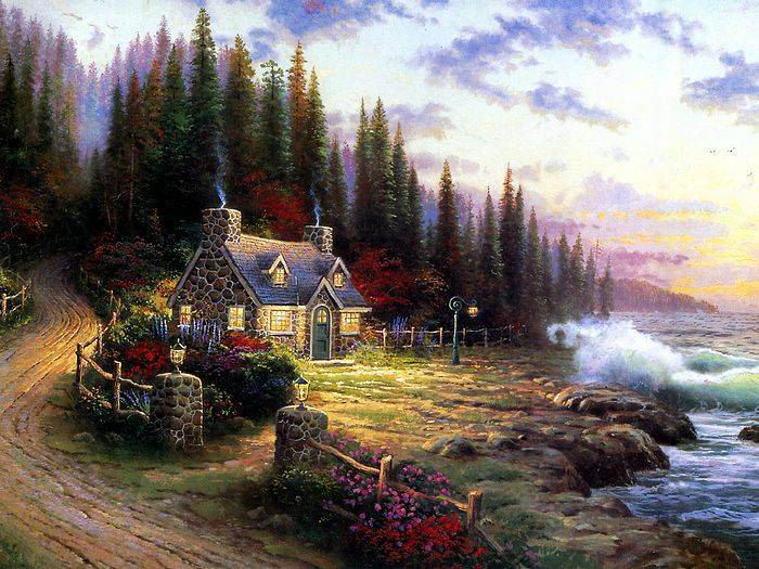 Thomas Kinkade paintings, NO.9 reproduction canvas paintings