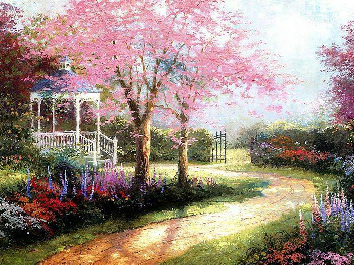 Thomas Kinkade paintings, NO.11 reproduction canvas paintings