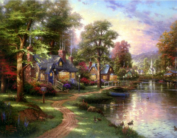 Thomas Kinkade paintings. No.112 Reproductions of paintings