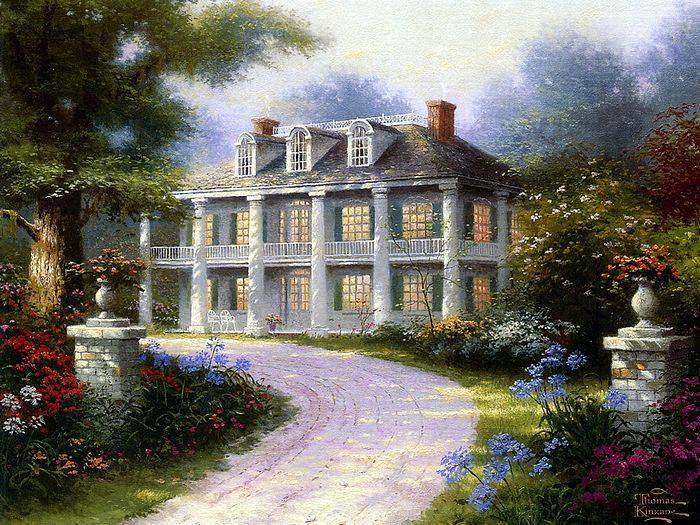 Thomas Kinkade paintings, NO.13 reproduction canvas paintings